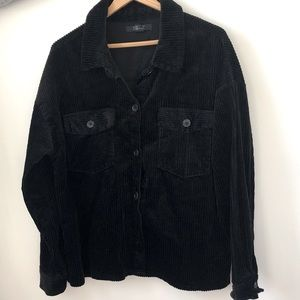 Corduroy Jacket Black Button Up Shirt Shacket